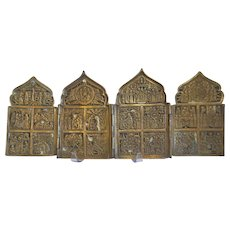 Antique Russian traveling Icon, 19th century