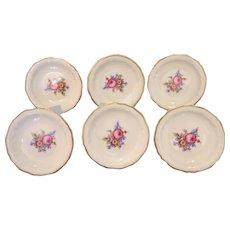 Vintage  set of six Rosenthal saucers , ca. 1930