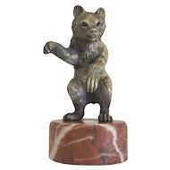 Vienna Bronze figure of a bear ,early 20th century
