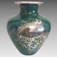 Heinrich and  Co Bavaria porcelain vase with fine silver painting( 1896-1940)