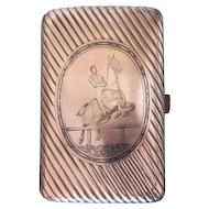 Antique silver and Niello  cigarette case , ca. 1867