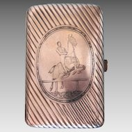 Antique silver and Niello  cigarette case , ca. 1867