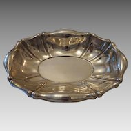 Antique oval silver bowl, Diana head hallmark, 19th century