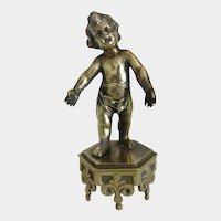 Vienna Bronze figure of a little boy, turn of the 20th century