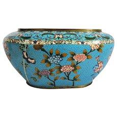 Antique Japanese Cloisonne Enamel  bowl, Meiji Period , late 19th century