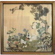 Japanese landscape silk painting, ca. 1920