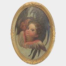 Antique Italian painting oil on canvas, 19th century