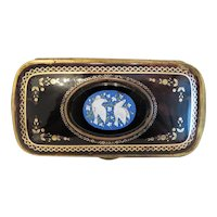 Antique French Micro Mosaic celluloid card box, ca. 1900