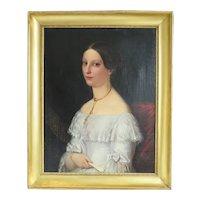 Antique Biedermeier painting, oil on canvas, ca. 1830