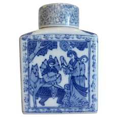 Vintage Chinese Export porcelain tea caddy, early 20th century