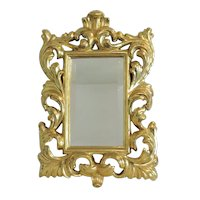 Italian Roccoco style gilt wood mirror, early 20th century