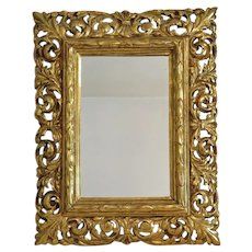 Antique Florentine Gilt Wood mirror, 19th century