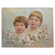 Antique painting, oil on canvas, 19th century