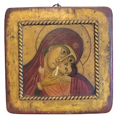 Antique Russian Icon depicting the Holy Mother of Korsun, 19th century