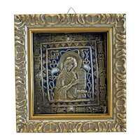 Antique Russian Icon depicting the Holy Mother of God, 19th century