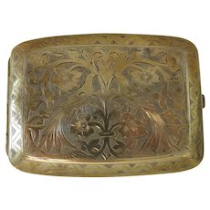 Antique gold plated cigarette case, 19th century