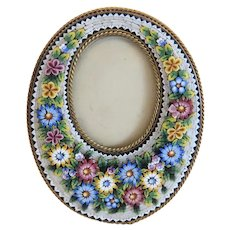 Antique Italian Micro Mosaic frame, 19th century