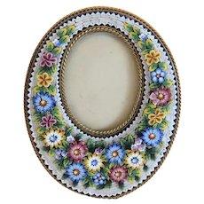 Antique Italian Micro Mosaic frame, 19th century