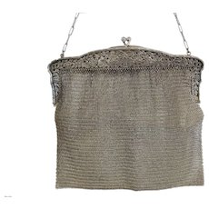 Antique silver purse, hallmarked 925, ca. 1900