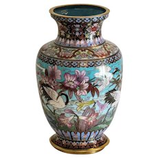 Antique Chinese Cloissone vase, 19th century
