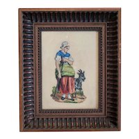 Antique Miniature needlepoint, turn of 20th century