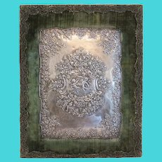 Antique silver wall plaque, England 19th century