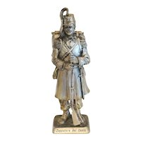 Antique Italian figurine, silver plate, 19th century