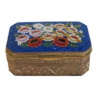 Antique Micro Mosaic pill box, 19th century