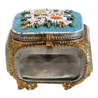 Antique Micro Mosaic jewelry box, 19th century