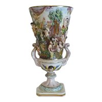 Vintage Capodimonte porcelain vase, ca. 1940