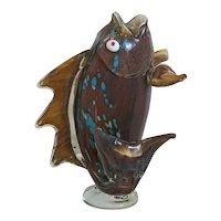 Vintage Murano glass fish sculpture, ca. 1950