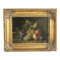 Antique print on canvas, gilt wood frame, 19th century