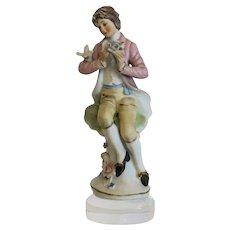 Vintage Capodimonte figurine, signed, dated ca. 1930