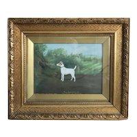 Antique English dog painting, signed William Stevenson 1911
