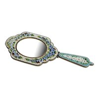 Antique Italian Micro Mosaic mirror, 19th century