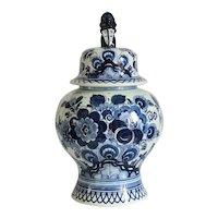 Delft blue porcelain vase, marked Royal Goedewaagen