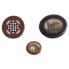 A collection of antique Roman Micro Mosaic, 19th century