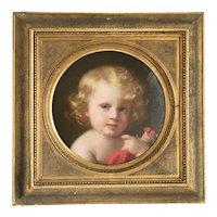 Antique portrait of a little child, ca. 1850