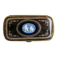Antique Micro Mosaic card case, 19th century