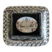 Antique Micro Mosaic box, silver 800,19th century