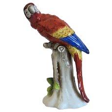 Vintage Sitzendorf porcelain parrot, Germany ca. 1920