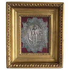 Antique Russian silver Icon, 19th century