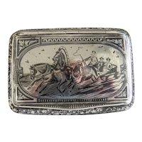 Antique Russian silver cigarette case, 19th century
