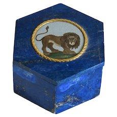 Antique Roman Micro Mosaic box, 18th century
