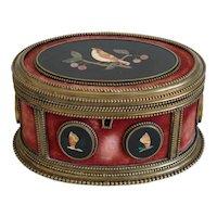 Antique Italian Pietra Dura box, Florence, 19th century