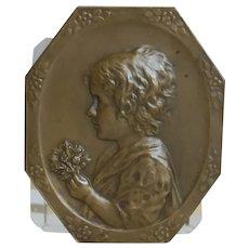 Antique Bronze plaque, 19th century