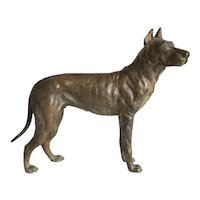 Antique Vienna Bronze figure of a Great Dane, early 20th century