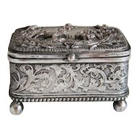 Antique French  silver plated box, 19th century