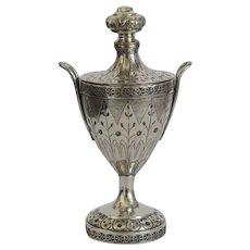 Antique Biedermeier sugar bowl, silver 800, ca. 1810