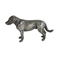 Antique silver figure of a hunting dog, early 20th century